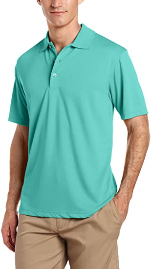 PGA TOUR Men's Airflux Short Sleeve Solid Polo-Shirts