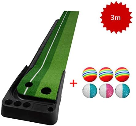 LUCKFY Home Golf Putting Mats Indoor Backyard Golf Practice Training Aid Equipment